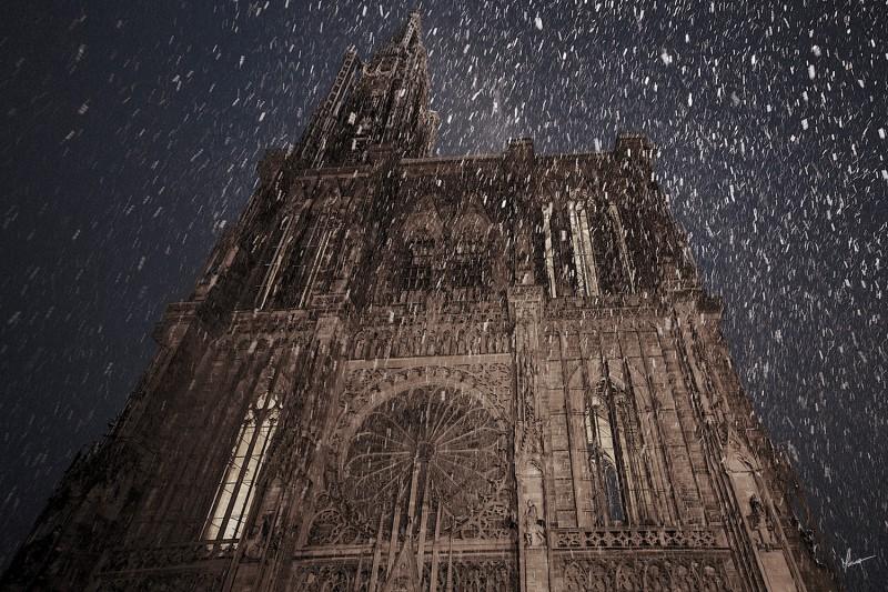 Cathedrale sous la Neige